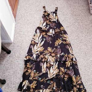 Free People Cotton Printed Maxi Dress